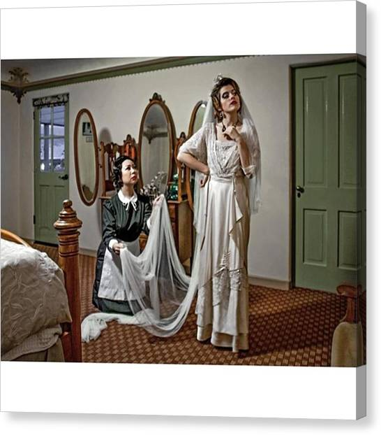 Wedding Canvas Print - This Photo Was Taken Inside Room 603 Of by Sad Hill - Bizarre Los Angeles Archive