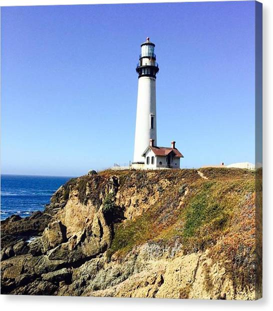 Lighthouses Canvas Print - Pigeon Point Lighthouse by Scott Pellegrin
