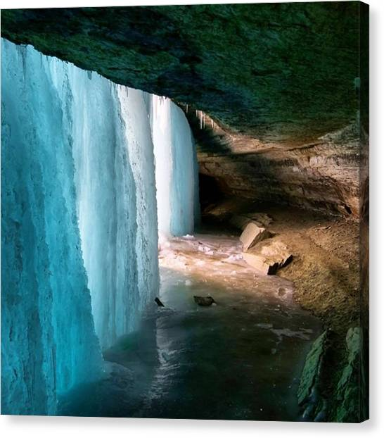 Ice Caves Canvas Print - Frozen by Ryan Tuck