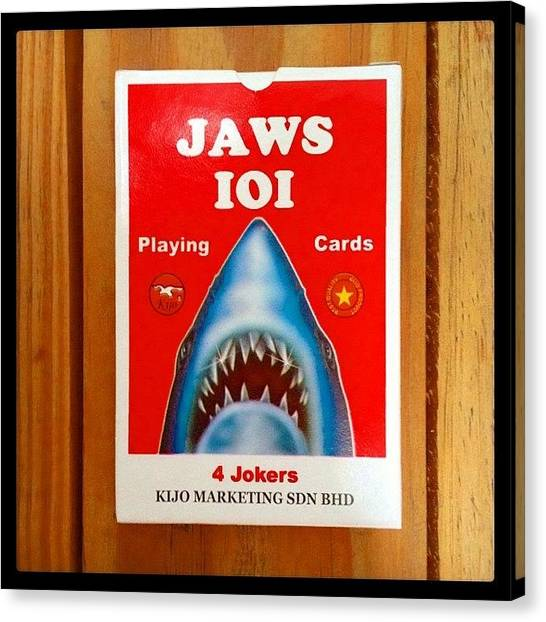 Jaws Canvas Print - This Should Be Interesting! 😬 #jaws by Hanna Johnsson