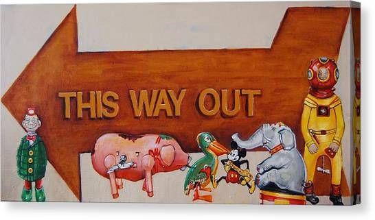 This Way Out Canvas Print
