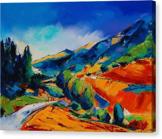 Fauvism Canvas Print - This Way To Heaven by Elise Palmigiani