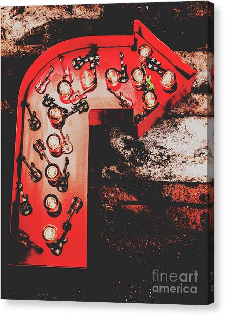 Rock And Roll Canvas Print - This Way To Rock City by Jorgo Photography - Wall Art Gallery