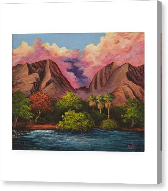Hawaii Canvas Print - This Week's Featured Painting Is Now by Darice Machel McGuire