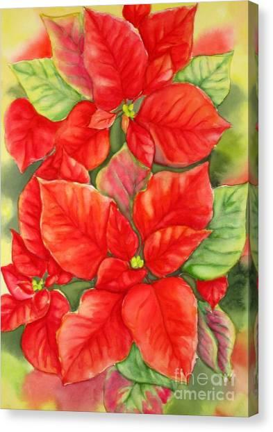 This Year's Poinsettia 1 Canvas Print