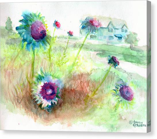Thistles #1 Canvas Print