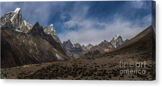 K2 Canvas Print - Thokla Pass Nepal by Mike Reid