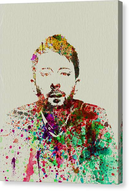 Celebrity Canvas Print - Thom Yorke by Naxart Studio