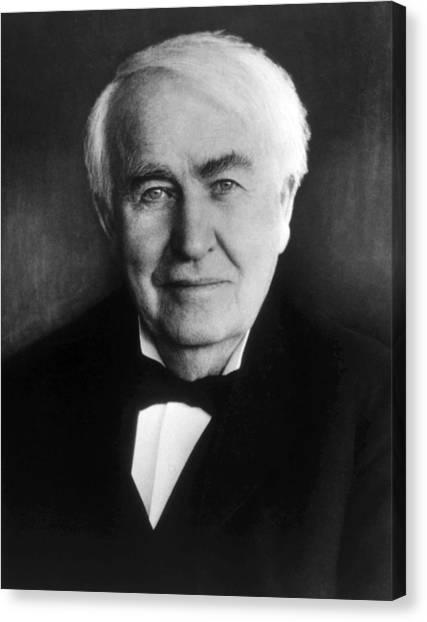 Jt History Canvas Print - Thomas Alva Edison 1847-1931 by Everett