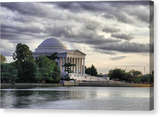 Thomas Jefferson Canvas Print - Thomas Jefferson Memorial by Gene Sizemore
