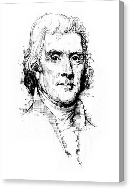 Liberty University Canvas Print - Thomas Jefferson by Michael Johnson