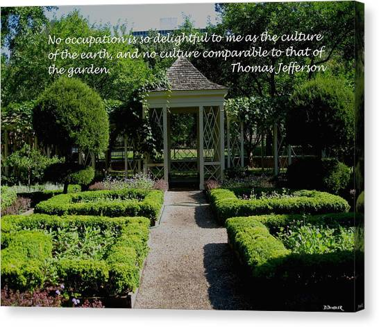 Thomas Jefferson On Gardens Canvas Print