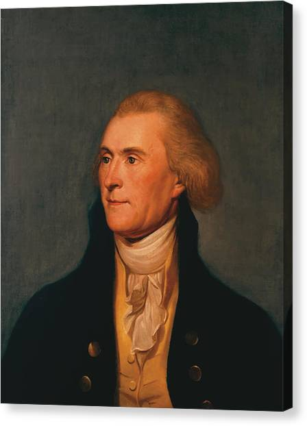 History Canvas Print - Thomas Jefferson by War Is Hell Store
