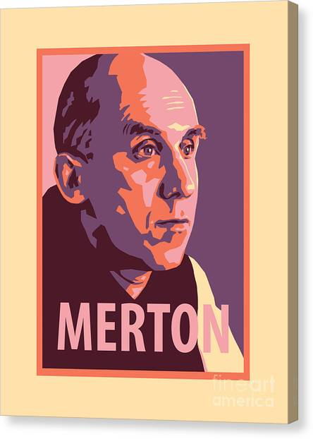 Thomas Merton - Jltme Canvas Print