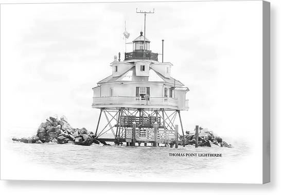 Thomas Point Lighthouse Canvas Print