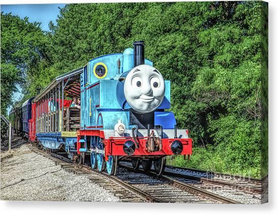 Thomas The Train Canvas Print - Thomas The Tank Engine by Lynn Sprowl