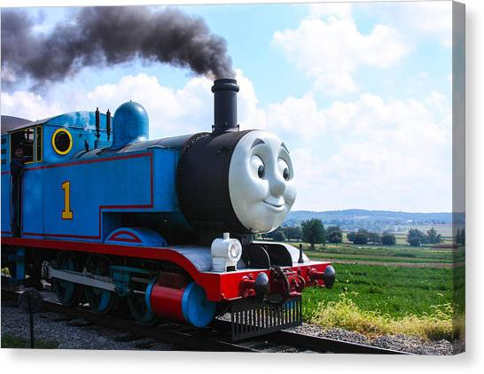 Thomas The Train Canvas Print - Thomas The Train Engine by William Rogers