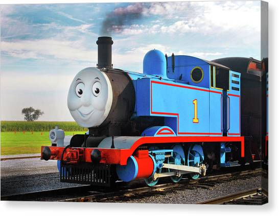 Thomas The Train Canvas Print - Thomas The Train by Paul W Faust -  Impressions of Light
