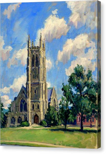 Thompson Chapel Williams College Canvas Print