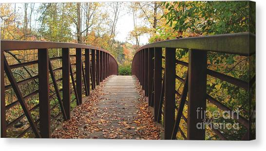 Thompson Park Bridge Stowe Vermont Canvas Print