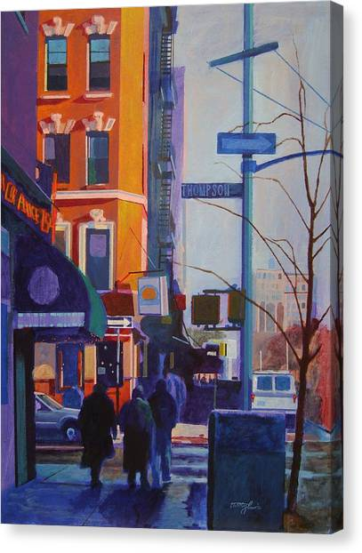 Thompson Street Canvas Print by John Tartaglione