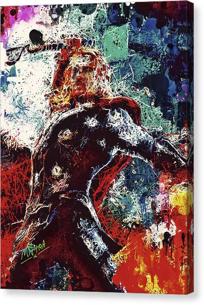 Canvas Print featuring the mixed media Thor  by Al Matra