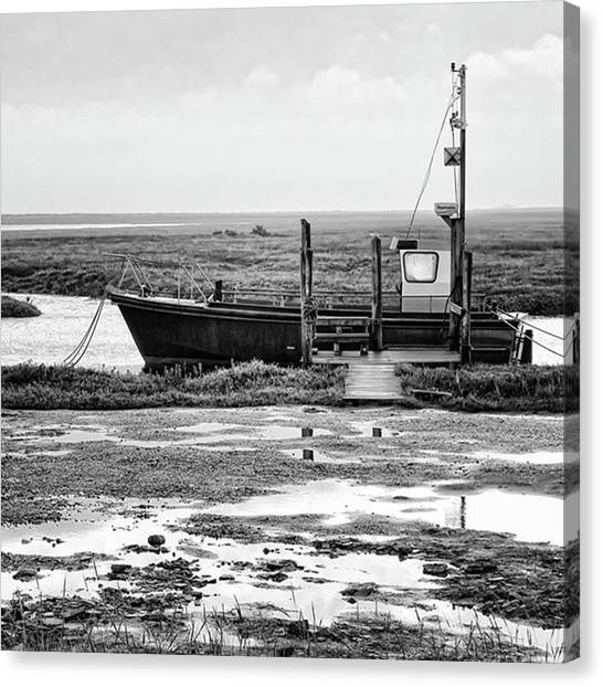 Seas Canvas Print - Thornham Harbour, North Norfolk by John Edwards