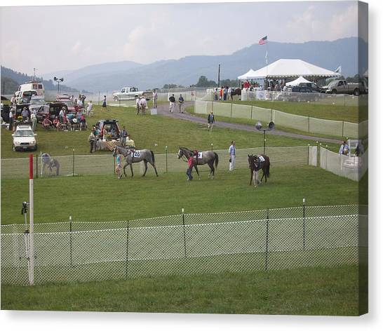 Thornton Hill Point To Point Canvas Print