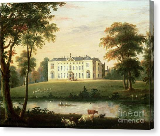 Park Scene Canvas Print - Thorp Perrow Near Snape In Yorkshire by English School