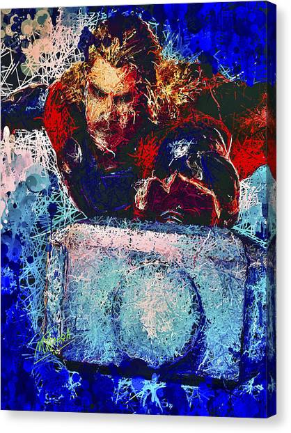 Canvas Print featuring the mixed media Thor's Hammer by Al Matra