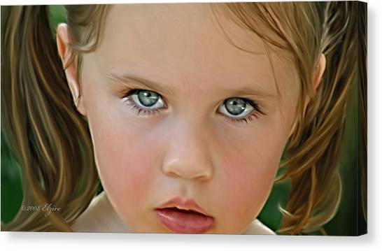 Those Eyes Canvas Print by Elzire S
