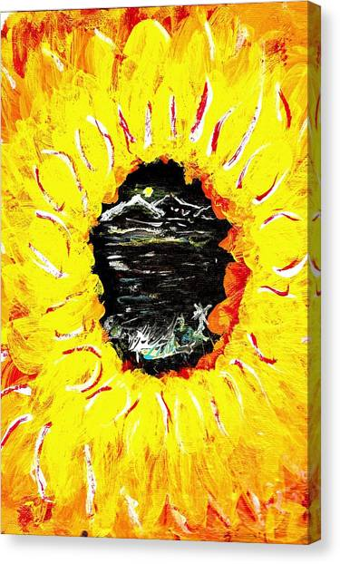 Though The Eye Of A Flower Canvas Print by Ross Isgar