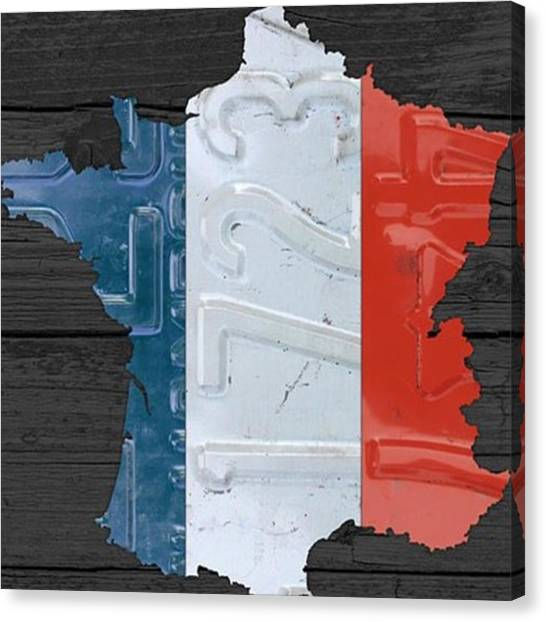France Canvas Print - Thoughts And Prayers For The People Of by Design Turnpike