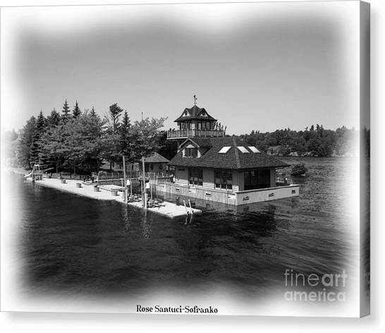 Canvas Print featuring the photograph Thousand Islands In Black And White by Rose Santuci-Sofranko