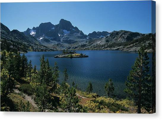 Thousand Islands Lake - Glacier - Mount Davis Jmt Canvas Print