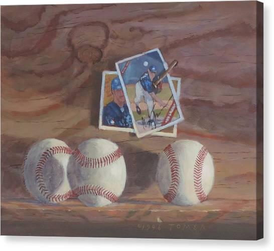 Fast Ball Canvas Print - Three Balls by Bill Tomsa