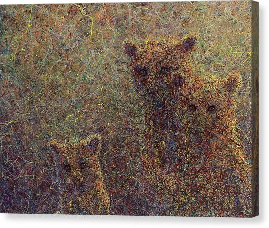 Loose Canvas Print - Three Bears by James W Johnson
