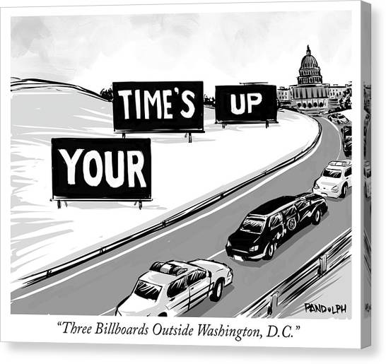 Three Billboards Outside Washington Dc Canvas Print