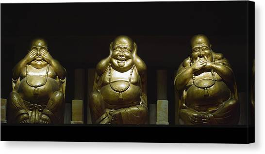 Three Buddhas Canvas Print