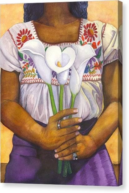 Three Calla Lilies Canvas Print