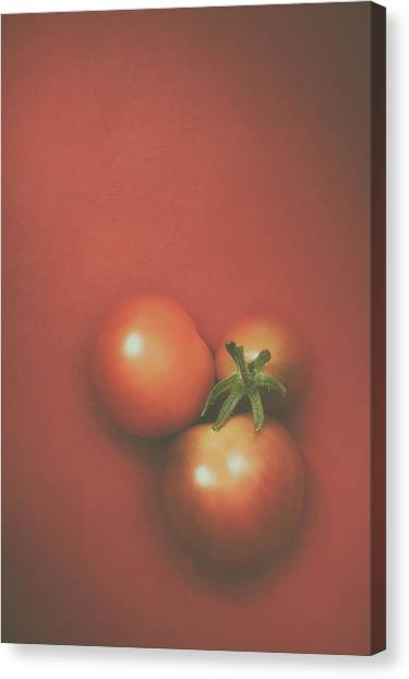 Tomato Canvas Print - Three Cherry Tomatoes by Scott Norris