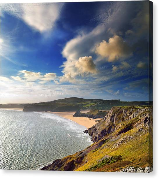 Three Cliffs Bay 1 Canvas Print