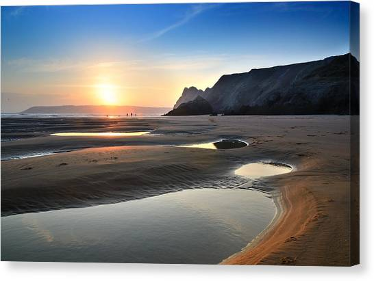 Three Cliffs Bay 2 Canvas Print