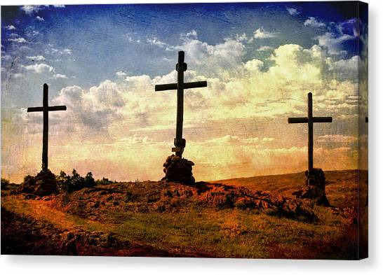 Three Crosses Canvas Print
