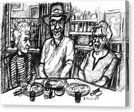 Canvas Print - Three Diners by Rich Travis