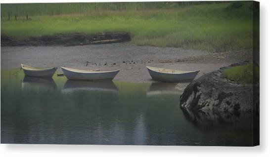 Three Dories Canvas Print