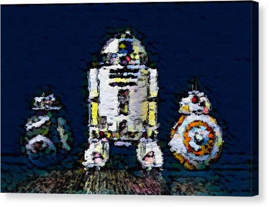 Canvas Print - Three Droids by Modern Art