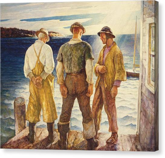 Braces Canvas Print - Three Fishermen by Newell Convers Wyeth