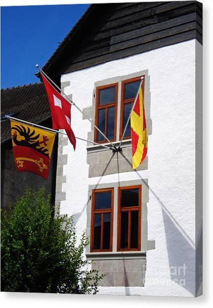 Three Flags Canvas Print