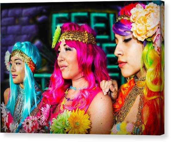 Three Flower Princesses  Canvas Print